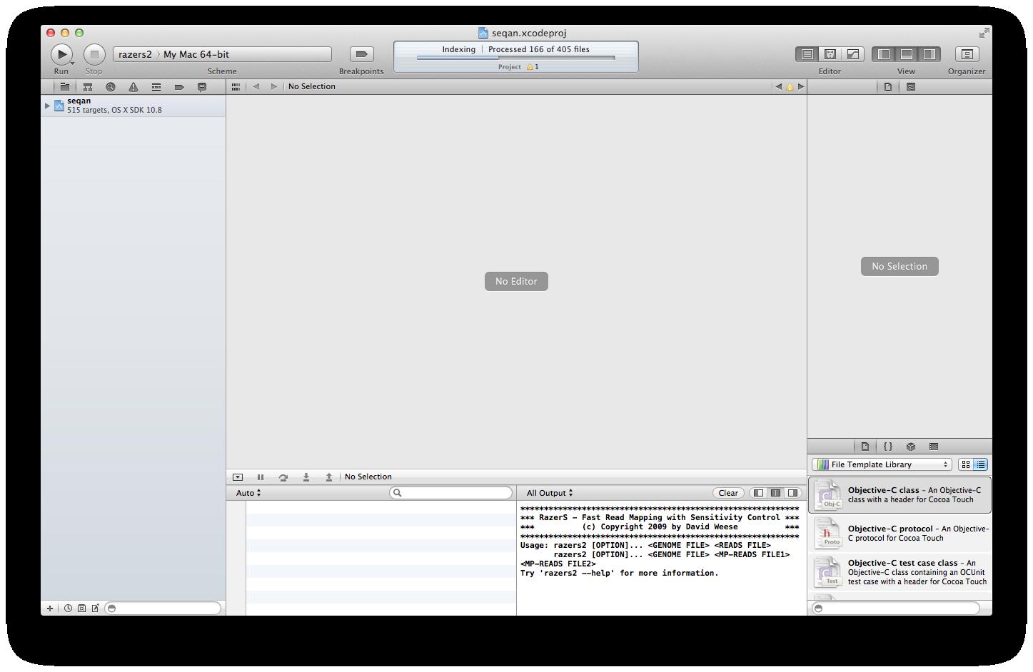 Getting Started With SeqAn On Mac OS X Using Xcode — SeqAn 1 4 2